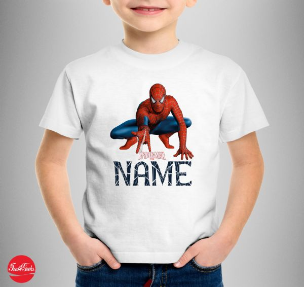 Personalised Spiderman T-shirt